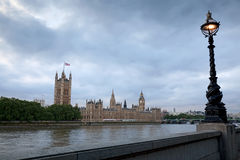 Big Ben and Houses of Parliament at dusk Royalty Free Stock Images