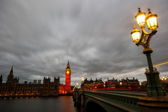 Big Ben and Houses of parliament at dusk Stock Image