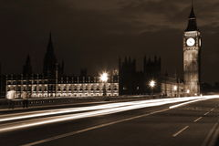 Big Ben and Houses of Parliament at evening Stock Images