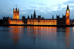 Big Ben and Houses of Parliament at evening, London Stock Images