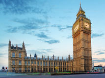 Big Ben and Houses of Parliament at evening, London, UK Stock Image