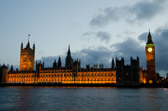 Big Ben and Houses of Parliament in London Royalty Free Stock Photography