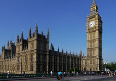 Big ben and houses of parliament in london Royalty Free Stock Photo