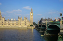 Big ben and houses of parliament in london, england Royalty Free Stock Photography