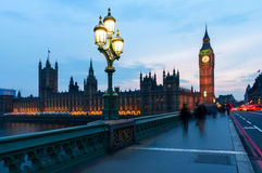 Big Ben and the Houses of the Parliament in London, England Stock Photo