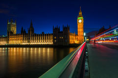 Big Ben and the Houses of the Parliament in London, England Stock Photos