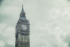 The Big Ben and Houses of Parliament in London Royalty Free Stock Photo