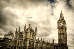 The Big Ben and Houses of Parliament in London Royalty Free Stock Photos