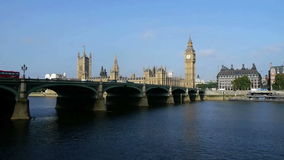 Big ben and houses of parliament in london, over the river thames Stock Photo
