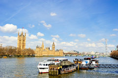 Big Ben and the Houses of Parliament in London Stock Image