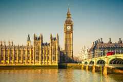 Big Ben and Houses of parliament, London Royalty Free Stock Images