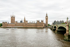 Big Ben and Houses of Parliament, London. Big Ben and Houses of Parliament with  Thames river Stock Photos