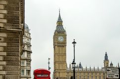 The Big Ben, Houses of Parliament, Royalty Free Stock Photos
