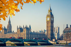 Big Ben and Houses of parliament, London Royalty Free Stock Photos