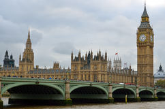 Big Ben and Houses of Parliament, London, UK.  Royalty Free Stock Image