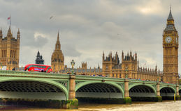 Big Ben and Houses of Parliament, London, UK.  Stock Photo