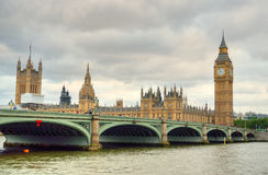 Big Ben and Houses of Parliament, London, UK Royalty Free Stock Photos