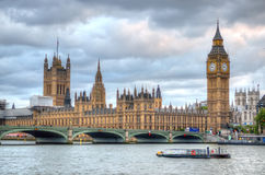 Big Ben and Houses of Parliament, London, UK Royalty Free Stock Images