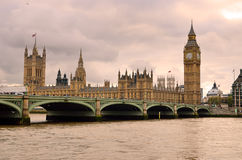 Big Ben and Houses of Parliament, London, UK.  Royalty Free Stock Photo