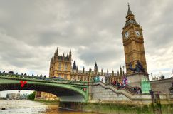 Big Ben and Houses of Parliament, London, UK.  Stock Images