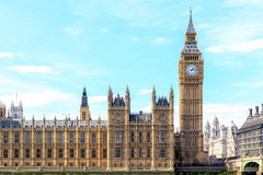 Big Ben and Houses of Parliament, London, UK. Daytime Royalty Free Stock Images