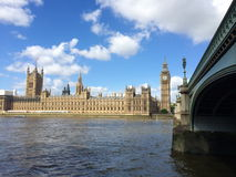 Big Ben and Houses of Parliament in London, UK. Royalty Free Stock Image