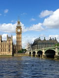 Big Ben and Houses of Parliament in London, UK. Royalty Free Stock Images