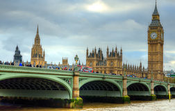Big Ben and Houses of Parliament, London, UK Royalty Free Stock Image