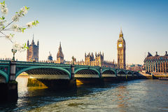 Big Ben and Houses of parliament, London. Big Ben and westminster bridge in London Stock Image