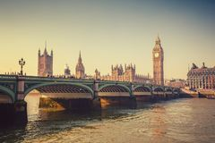 Big Ben and Houses of parliament, London Stock Photos