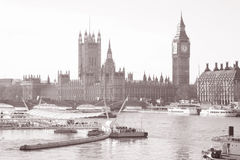 Big Ben and the Houses of Parliament, London Royalty Free Stock Photos