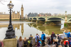 Big ben and Houses of parliament on long exposure Royalty Free Stock Image