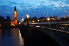 Big Ben and Houses of Parliament at night. London, UK Stock Image