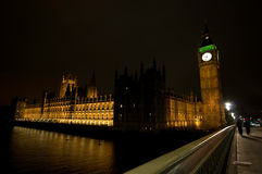 Big ben and the houses of parliament at night Stock Photography