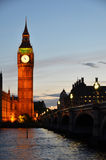 Big Ben and Houses of parliament. At night, London Royalty Free Stock Images