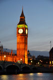 Big Ben and Houses of parliament. At night, London Stock Image