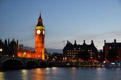 Big Ben and Houses of parliament at night. London Stock Photos