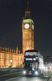 Big Ben and Houses of Parliament at night  - London England  UK Stock Photography