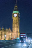 Big Ben and Houses of Parliament at night  - London England  UK Royalty Free Stock Image