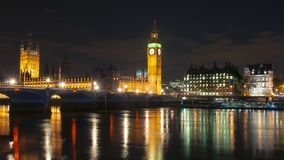 Big Ben and Houses of parliament at night, London, UK stock image