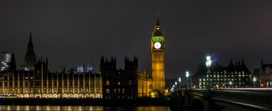 Big Ben and Houses of parliament at night Royalty Free Stock Image