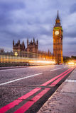 Big Ben and the Houses of Parliament at night, London, UK Royalty Free Stock Photos