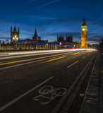 Big Ben and Houses of Parliament at Night, London Royalty Free Stock Image