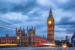 The Big Ben and the Houses of Parliament at night, London, UK Stock Photo