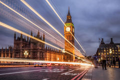 The Big Ben and the Houses of Parliament at night, London, UK Royalty Free Stock Images