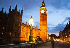 Big Ben and houses of parliament in the night, London Stock Image
