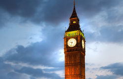 Big Ben and houses of parliament in the night, London. LONDON, UK - JULY 21, 2014: Big Ben and houses of parliament in the night Royalty Free Stock Photo