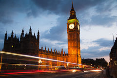 Big Ben and houses of parliament in the night, London. LONDON, UK - JULY 21, 2014: Big Ben and houses of parliament in the night Stock Photography