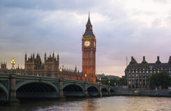 Big Ben and houses of parliament in the night, London Stock Photography