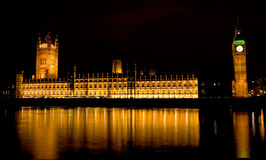 Big Ben and Houses of Parliament at night, London, UK Stock Photo